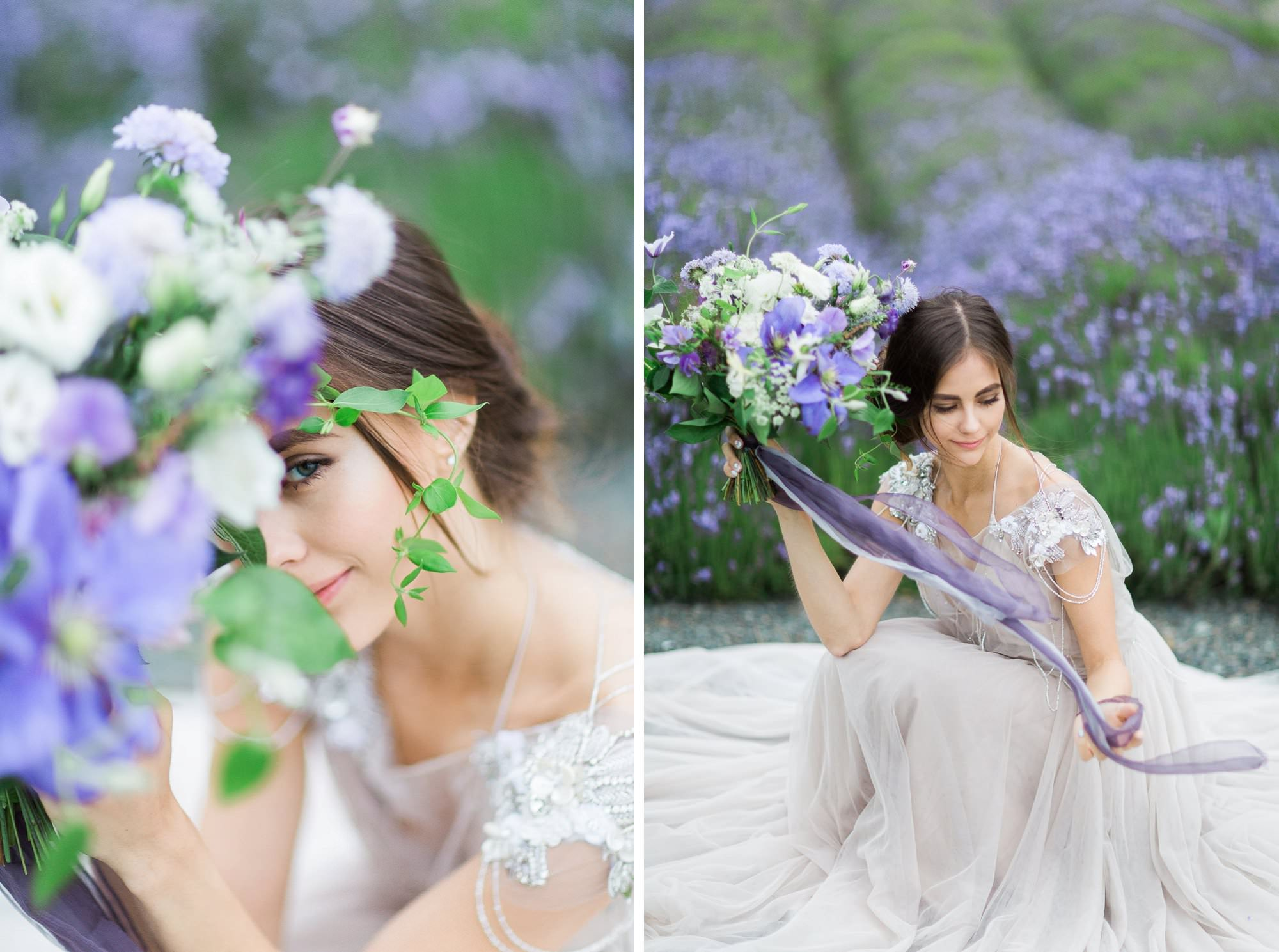 Lavender Fields Styled Shoot Vancouver