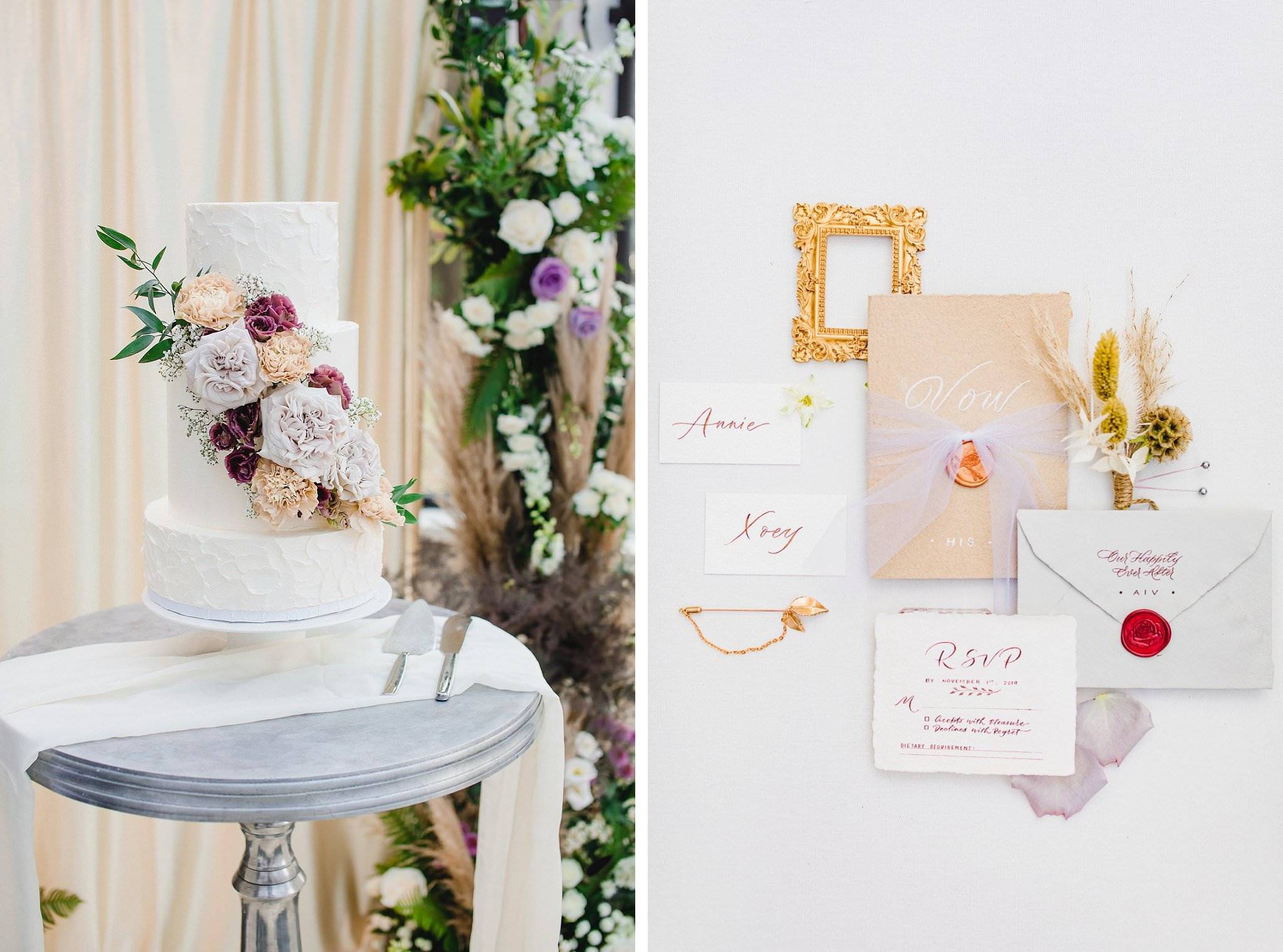 WedLuxe Styled Shoot Vancouver stationery