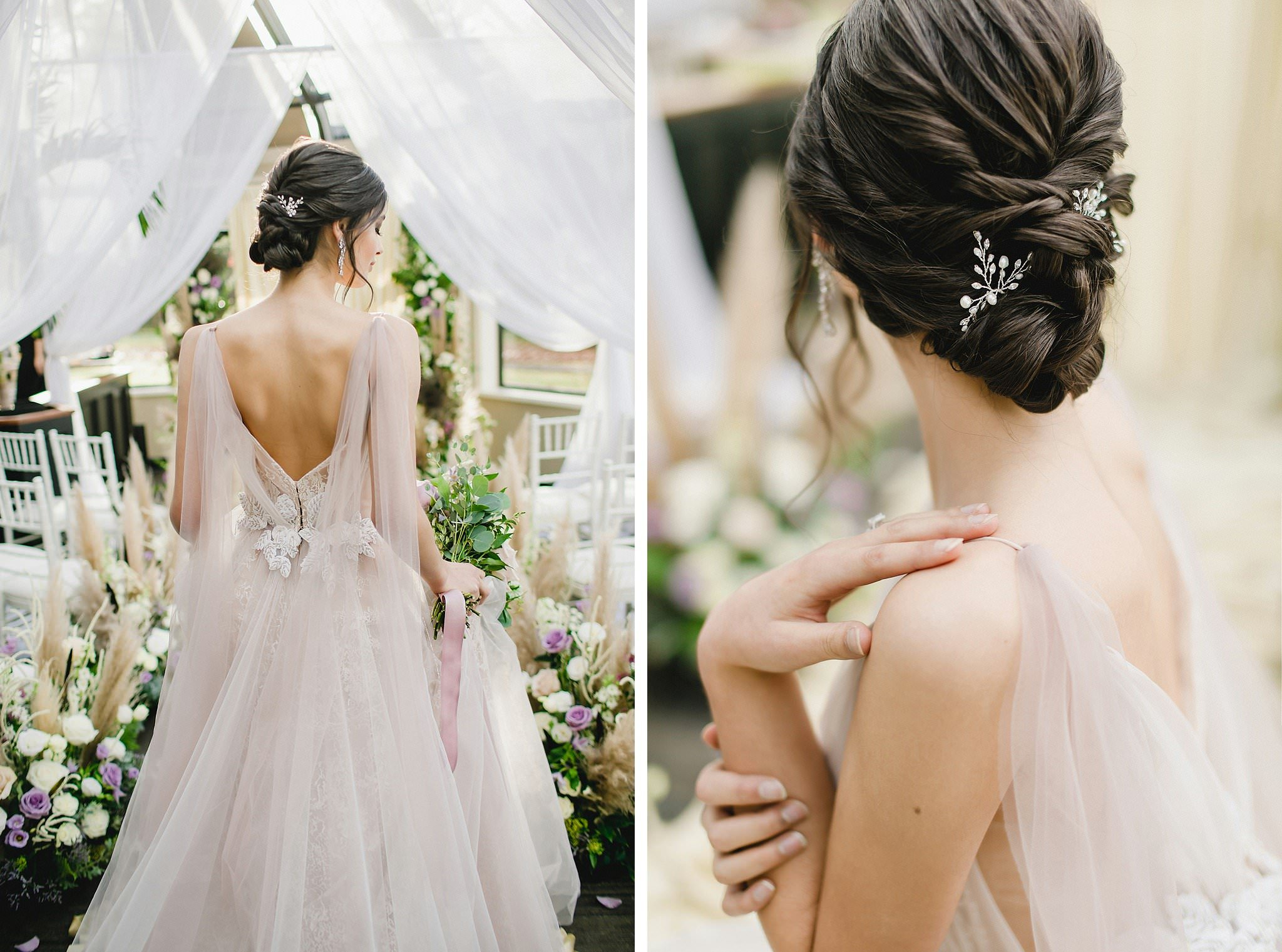 WedLuxe Styled Shoot Vancouver wedding dress details