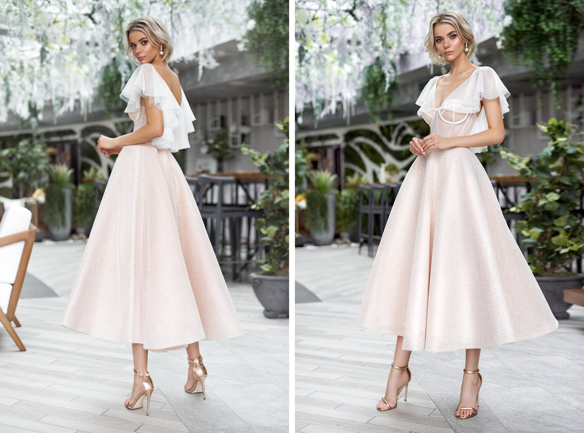 Midi wedding dresses