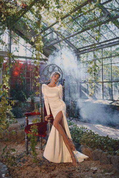 Fit and flare wedding dress Ange Etoiles Heidi