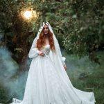 A-line European wedding dress