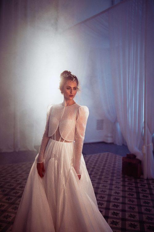 A-line two in one wedding dress by Rara Avis group