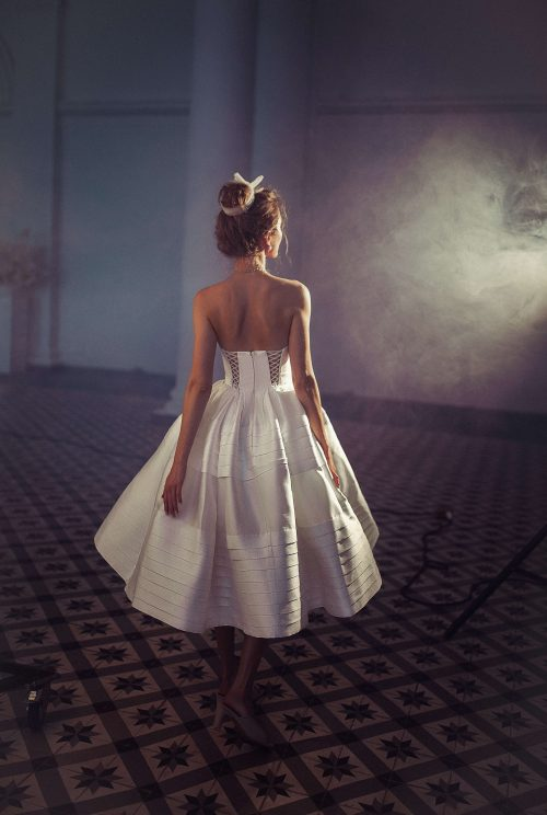 Midi wedding gown Eolia by Blammo-Biamo