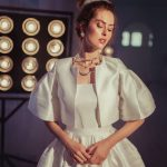 Midi wedding dress Eolia by Blammo-Biamo with jacket