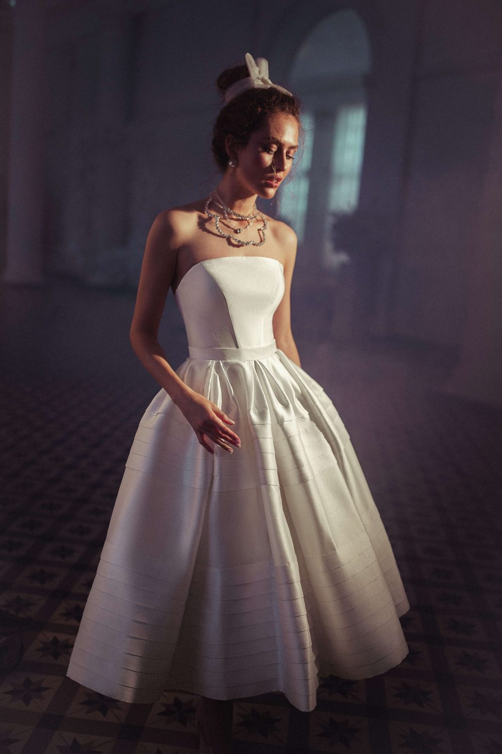 Midi wedding dress Eolia by Blammo-Biamo