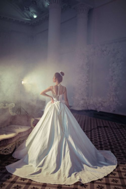 A-line spaghetti straps wedding dress by Rara Avis Group