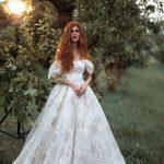 A-line puff sleeve Wedding dress Keiris by Rara Avis Group