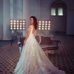 A-line white wedding gown Lesandra by Rara Avis Group