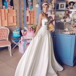 A-line strapless wedding dress Melantida by Rara Avis Group