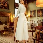 One shoulder satin wedding dress Billi by Rara Avis