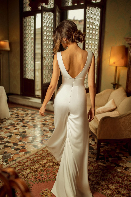 Satin wedding pantsuit Rara Avis Daniel by rara Avis