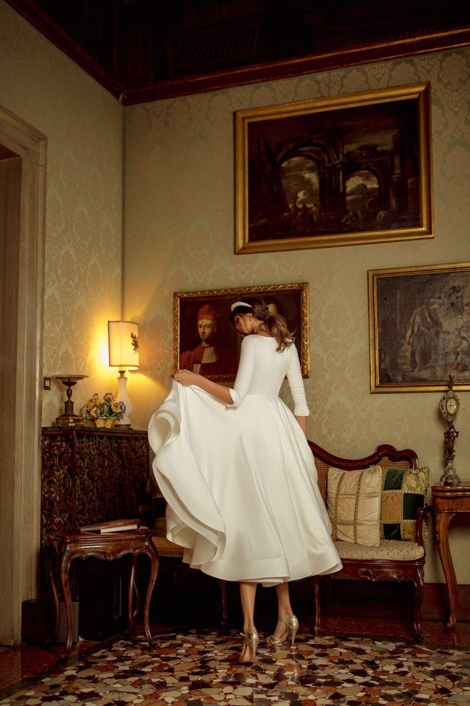 Midi wedding dress Kriss by Rara Avis