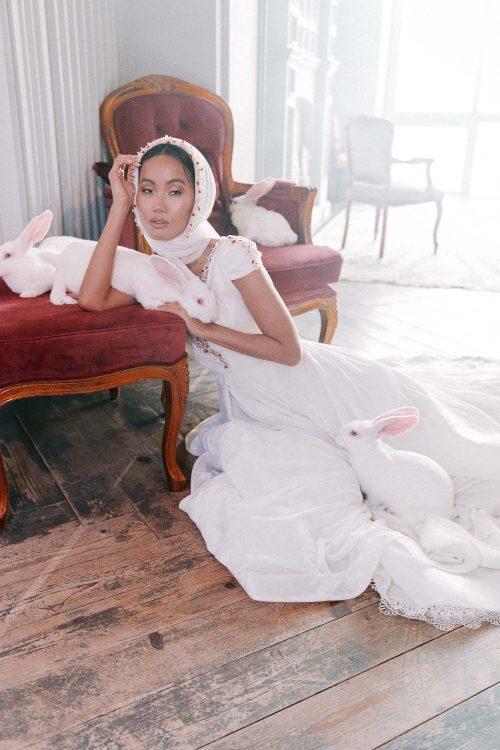 A-line white Wedding dress Lucien by Rara Avis