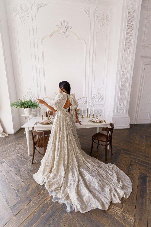 Wedding dress Muza by Rara Avis in gold
