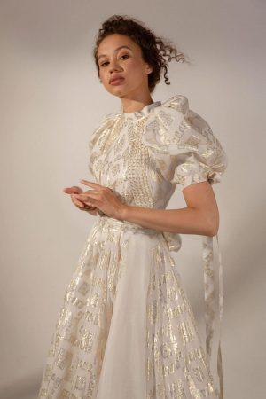 Wedding gown Muza by Rara Avis in gold