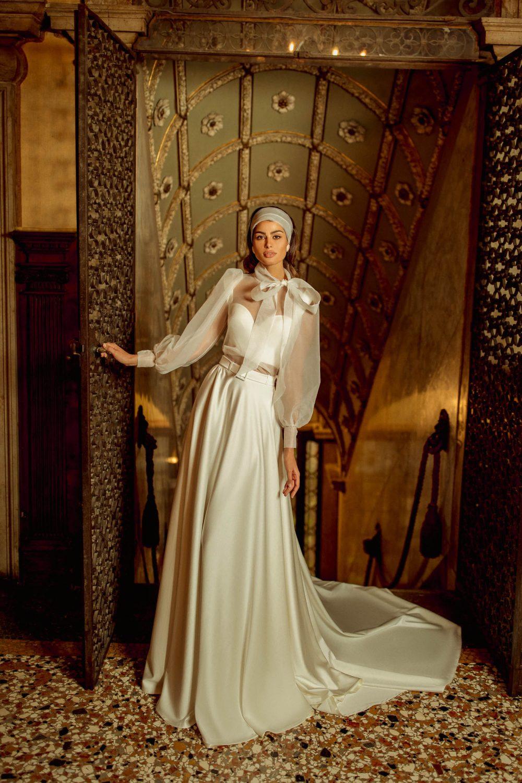 Two piece wedding dress Rouz by Rara Avis