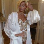 Rara Avis lingerie set Gold and Richi robe