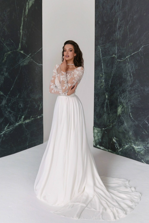 A-line long sleeve wedding dress Spring by Rara Avis