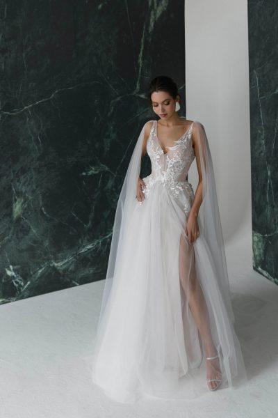 A-line wedding dress Summer by Rara Avis with slit